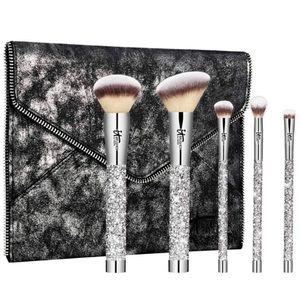 Bling makeup brush set
